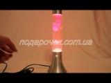 Лава лампа цилиндр красная